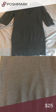 Black sparkly BCBG sweater-Size Small Great condition. Stretchy material BCBG Sweaters V-Necks