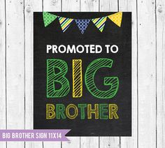 Let the new #bigbrother announce your pregnant! #pregnancyannouncementidea, #bigbrothersign