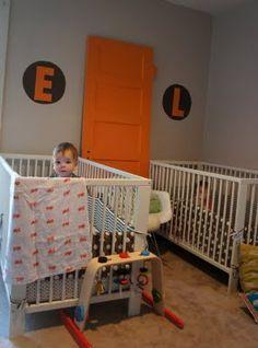 my boys room - like the orange and grey