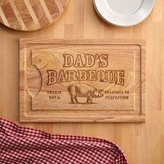 A Personal Creations Exclusive! This durable wood cutting board is attractive enough to use as a serving tray, as well.