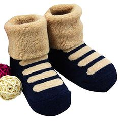 1 Pair Baby Winter Cotton Socks Thick Warm Socks 03 Years navy blue -- Want additional info? Click on the image.