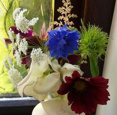 Picked from the garden just now. Table Decorations, Garden, Flowers, Home Decor, Garten, Decoration Home, Room Decor, Lawn And Garden, Gardens
