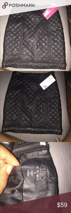 Faux Leather mini skirt Never worn too small Skirts Mini