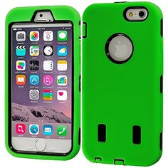 """myLife Hybrid Shock Absorbing {Built In Screen Protector} Case for iPhone 6 (6G) 6th Generation Phone by Apple, 4.7"""" Screen Version {Apple Green + Jet Black """"Capable Design"""" Neo Hybrid Three Piece with Layered Flex Gel SECURE-Fit Armor} myLife Brand Products http://www.amazon.com/dp/B00QJ452Y0/ref=cm_sw_r_pi_dp_b3HHub1HERZJ0"""