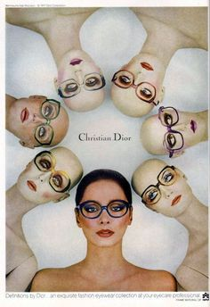 Vintage Christian Dior Eyewear advert for Vogue, 1977 Christian Dior Vintage, Vintage Dior, Mode Vintage, Vintage Beauty, Vintage Ads, Vintage Posters, Vintage Fashion, Vintage Magazines, 90s Fashion