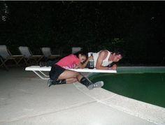 Pool parties.