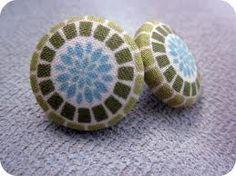 diy fabric earrings - Google Search