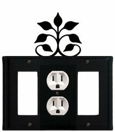 Leaf Fan - Single GFI, Outlet and GFI Cover by Village Wrought Iron. $17.12. Leaf Fan - Single GFI, Outlet and GFI CoverApprox. 6 1/2 In. W x 8 In. H Please allow 4 to 6 weeks for delivery.