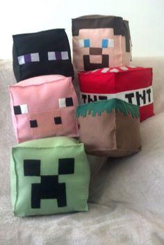 Minecraft em feltro