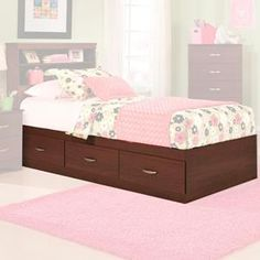 Briar Twin Mates Bed in Cherry without Headboard | Nebraska Furniture Mart