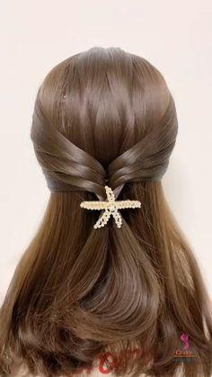 Hairstyles For Medium Length Hair Easy, Hair Tutorials For Medium Hair, Braids For Long Hair, Hair Up Styles, Medium Hair Styles, Hair Style Vedio, Ponytail Hairstyles Tutorial, Kawaii Hairstyles, Hair Styler