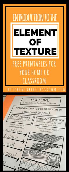 Making the connection between texture and art ought to be easy. Kids touch everything! This intro to the element texture in art comes with a free printable!