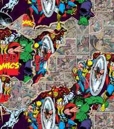 Marvel Retro Breakthrough Cotton FabricMarvel Retro Breakthrough Cotton Fabric, - In my stack and I have a little boy who wants a back pack made from this