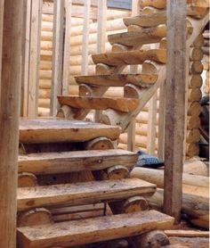 Log Staircases DIY