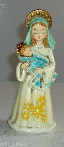 Vintage Madonna Child Christmas Figurine Mary Baby Jesus 1970 Japan | eBay