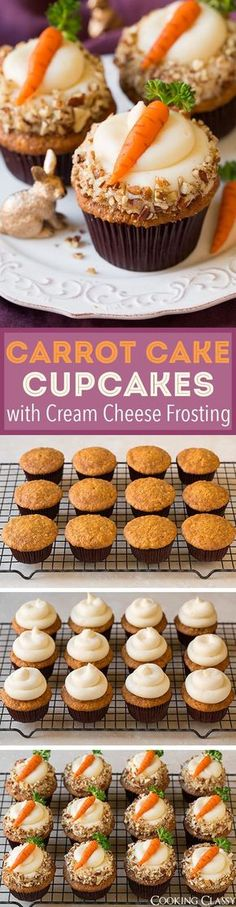 Carrot Cake Cupcakes with Cream Cheese Frosting (and Marzipan Carrots) - these are one of my all time FAVORITE cupcakes! Love everything about them!