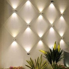 Beautiful lighting design for on a wall Accent Lighting, Lighting Design, Lighting Ideas, Outdoor Security Lights, Best Outdoor Lighting, Point Light, Mid Century Modern Lighting, Solar Powered Lights, Marquise