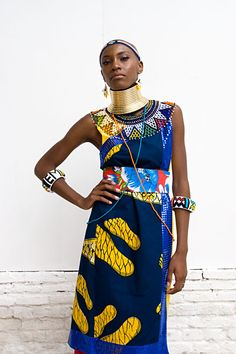 esther mahlangu custom dress
