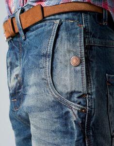 32c10d53 Blue Denim Jeans, Cut Jeans, Denim Men, Unisex Fashion, Denim Fashion,