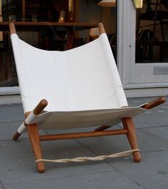 Ole Gjerloev-Knudsen Saw Chair | From a unique collection of antique and modern canapes at https://www.1stdibs.com/furniture/seating/canapes/