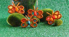 Rainbow Pretzel Butterflies