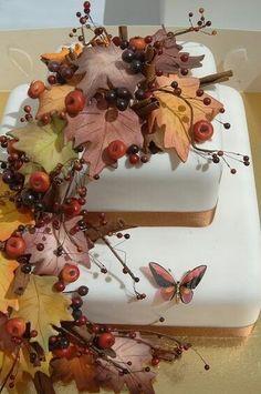 Свадебный торт о осеннем стиле