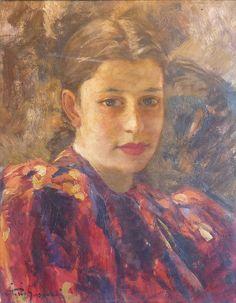 Vittorio Gussoni (Milan 1893-1968) - ritratto - girl's portrait