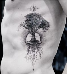 40 Stunning Black and Gray Tattoos is part of Grey tattoo - balazsbercsenyi 1 2 3 4 … Creative Tattoos, Unique Tattoos, Beautiful Tattoos, Small Tattoos, Tattoos For Guys, Cool Tattoos, Tree Sleeve Tattoo, Sleeve Tattoos, Tree Tattoo Men