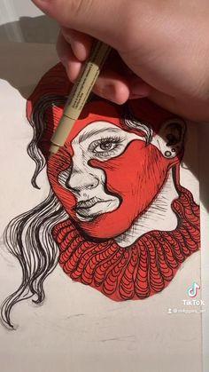 Pop Art Portraits, Portrait Art, Art Sketches, Art Drawings, Insta Bio, Creativity, Paintings, Etsy, Curls