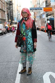 """'This guy put a smile on my face. I asked him if he was in town for Fashion Week, and he said: """"I don't really like fashion. I do computer stuff.""""' — Humans of New York"""