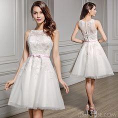 This wedding dress just struck my heart!