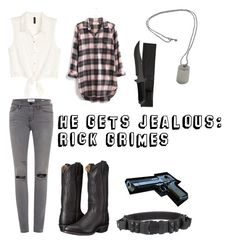 """""""He Gets Jealous: Rick Grimes"""" by mcglitterpawz ❤ liked on Polyvore featuring art"""