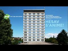 Animated Tower - amazing stop motion created by opening and closing windows on a university building.