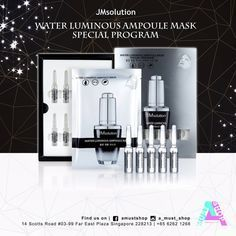 Discover the brand-new skincare magic with JMSolution Water Luminous Ampoule Mask Special Program! Do not miss your chance to try this very limited edition mask. Given its combination of Hyaluronic Acid Sodium Hyaluronic and Hydrolyzed Hyaluronic Acid this is a must-have ampoule-cum-mask set which is famous for improving skin elasticity and revitalizing the skin while preventing moisture evaporation. How to use? Step 1. After cleansing and toning apply the one-time-use ampoule all over face…