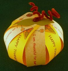 Thankful Pumpkin Craft  Here's an easy to make, clever craft to record blessings.  Learn how at Disney: Family Fun