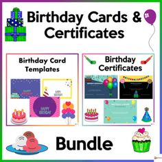 Make your students' birthdays special and memorable with our editable birthday cards and certificates. These cards and certificates could be given or signed by the teacher or by the students. If printed out, they could write their messages at the back. These cards and certificates could also be sent... Editable Birthday Cards, Birthday Card Template, School Resources, Classroom Resources, Classroom Organization, Classroom Management, School Stuff, Back To School, Birthday Certificate