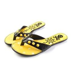 Iron Fist Shoes - Polka Party Flip Flops