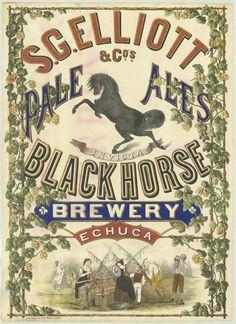 Old Australian beer poster