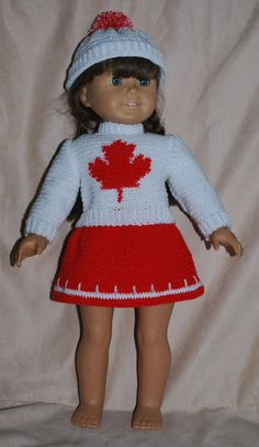 Crochet+Pattern+171+Maple+Leaf+Set+++For+18+Inch+by+barbsdolls,+$3.00