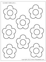 flower printable template