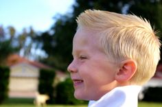 I love this kids hair cut! maybe one day Noah will grow enough hair for it lol