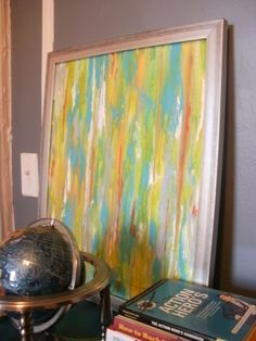 David Bromstad inspired painting using acrylic paint and water