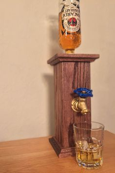Pedestal Liquor Dispenser by TheShopOfHardKnots on Etsy