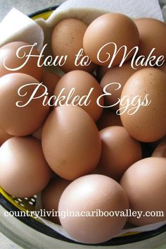 Try this easy Recipe for making Zingy Pickled Eggs. A great way to use up those extra eggs from your chickens.
