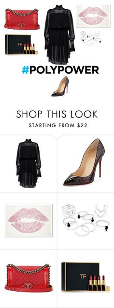"""""""Untitled #85"""" by patricia-pati ❤ liked on Polyvore featuring interior, interiors, interior design, home, home decor, interior decorating, Magda Butrym, Christian Louboutin, Oliver Gal Artist Co. and Chanel"""