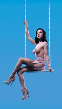 Dita on the swing ! Nylons, Robert Wilson, Dita Von Teese Burlesque, Dita Von Tease, Fantasy Play, Marina Abramovic, Rockabilly Fashion, Rockabilly Style, Lingerie