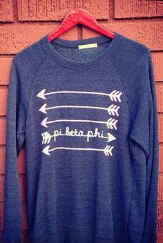 Pi Beta Phi arrow sweater! #piphi #pibetaphi