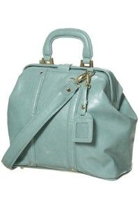 mint green doctor's bag, would be so cute with skinny jeans, a blazer and booties!