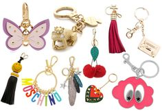 Dress up your favorite bag for spring with one of our favorite bag charms or key rings.