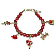 whimsical valentines day charm bracelet in gold womens size 6 inch - Walmart Valentine Gifts